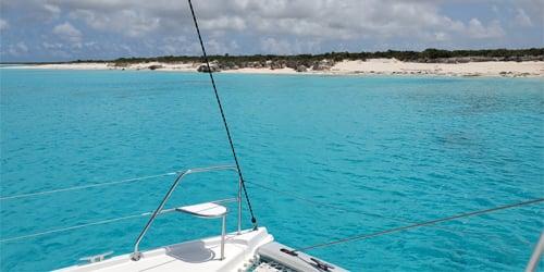 Catamaran in the ocean