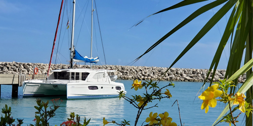 Sunsail 444 Sailing Catamaran Docked